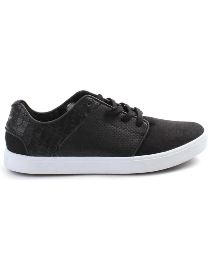Creative Recreation Santos Perforated Men's lace Up Trainer Black/White