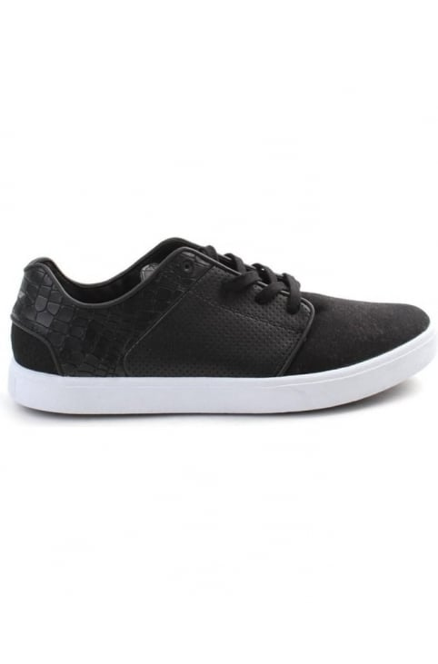 Santos Perforated Men's lace Up Trainer Black/White