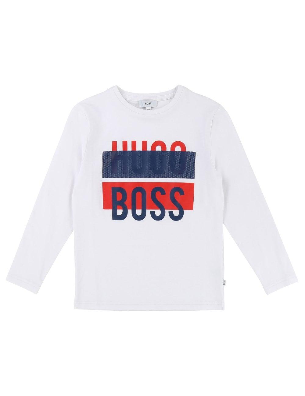 86bb9286b Hugo Boss Kids Crew Neck Boys Long Sleeve Tee