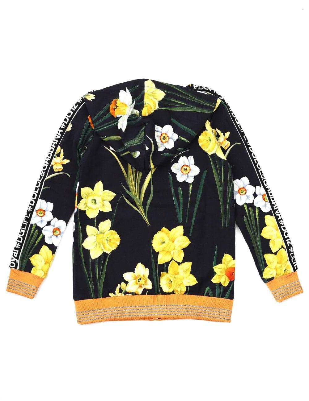 87e2a917620 D G Girls Milano Floral Print Hoodie
