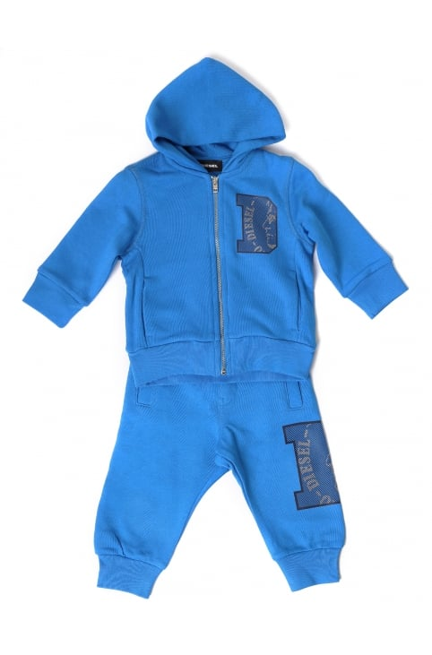 Baby Boys Solfib Zip Through Tracksuit Set