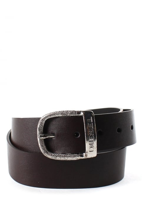 Bawre Men's Logo Buckle Belt Black