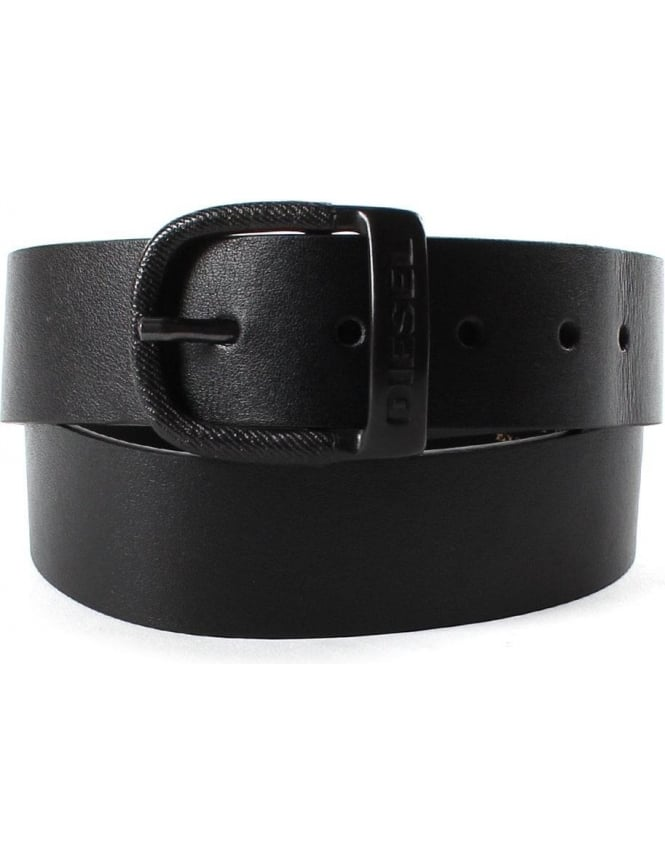 Diesel Bawre Men's Logo Buckle Belt