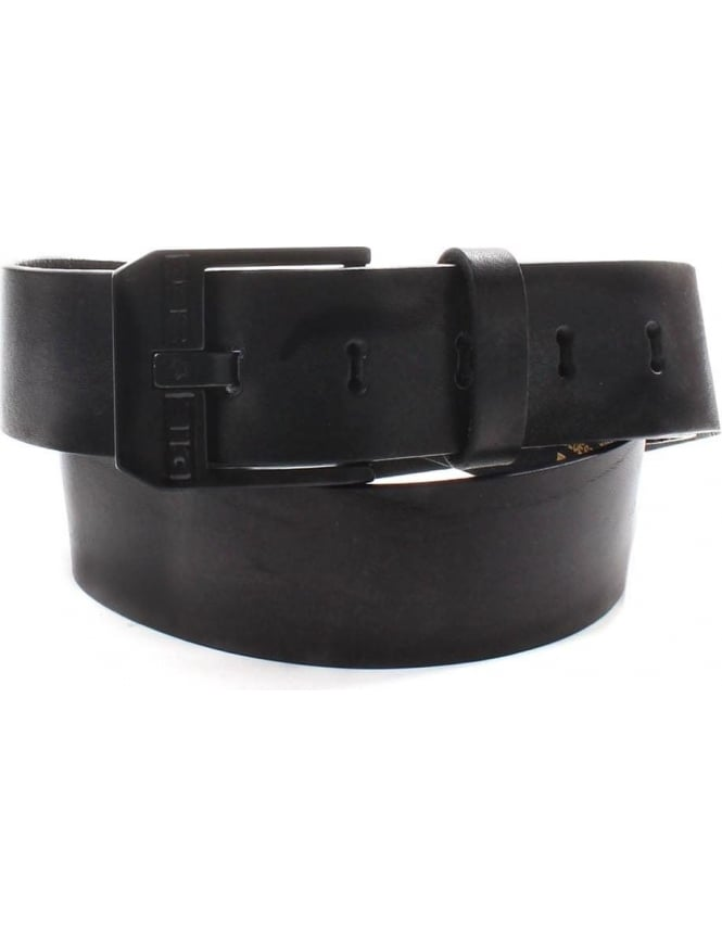 Diesel Bluestar Men's Metal Buckle Belt Black