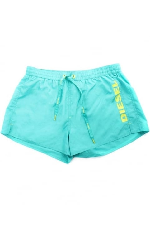 BMBX-Coral Men's Tie Waist Logo Swim Short