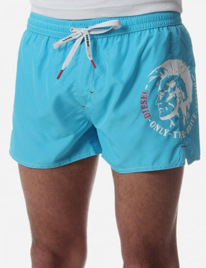 1fe1add046ec2 BMBX-Coralf Men s Head Print Logo Swim Shorts Aqua