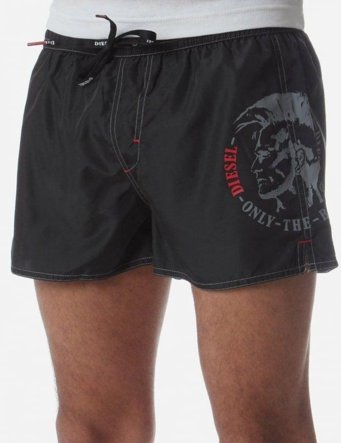db4bb3a406 BMBX-Coralf Men's Head Print Logo Swim Shorts Black