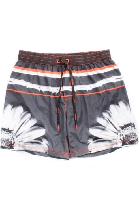 BMBX-Mark Men's Sunflower Print Swim Short Black
