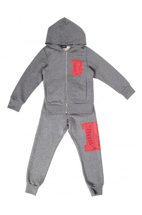 Boy's Solfi-Set Zip Through Hooded Track Suit