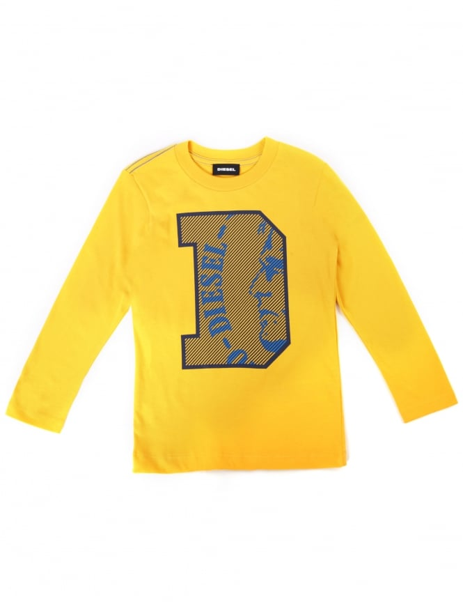 Diesel Boy's Turik Crew Neck Long Sleeve Tee