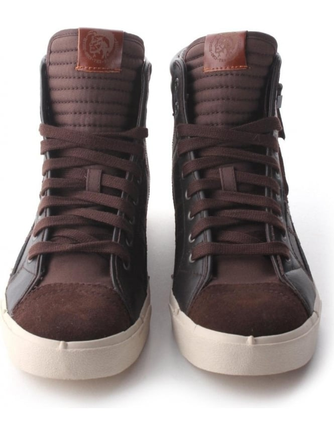 67c1b1143957 Diesel D-String  D-Velow  Men s Hi Top Brown