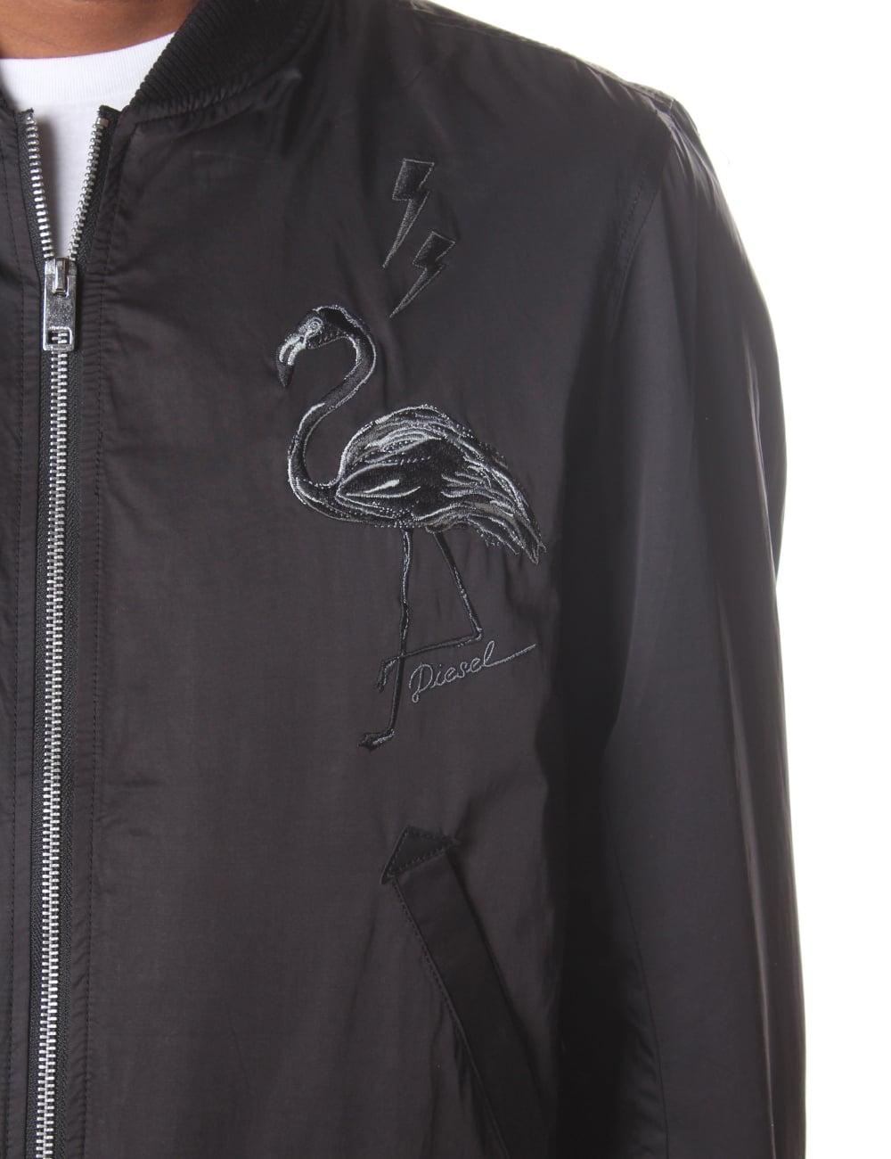 98151594e Diesel J-Flam Men's Embroidered Bomber Jacket