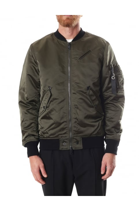 J-Quest Men's Zip Through Bomber Jacket