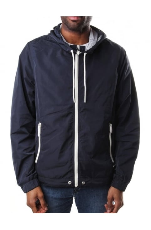 J-Simons Men's Zip Through Hooded Jacket Navy