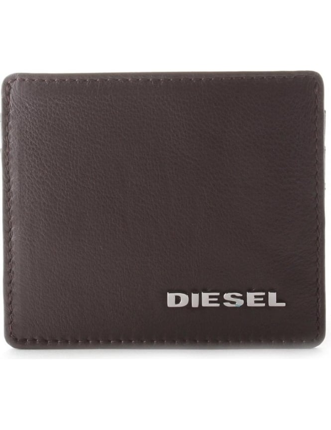 Diesel Johnas I Men's Jem Wallet Card Holder Dark Brown