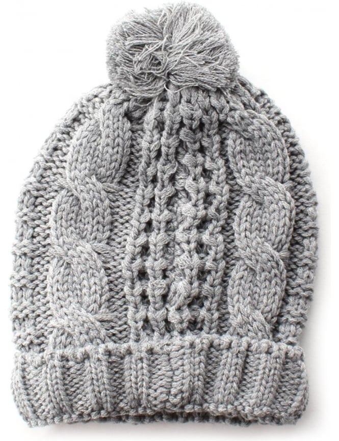 721fe14bf97 Diesel K-arly Men s Cable Knit Bobble Hat Grey