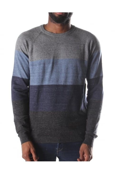 K-Calib-A Men's 3 Stripe Sweater Grey