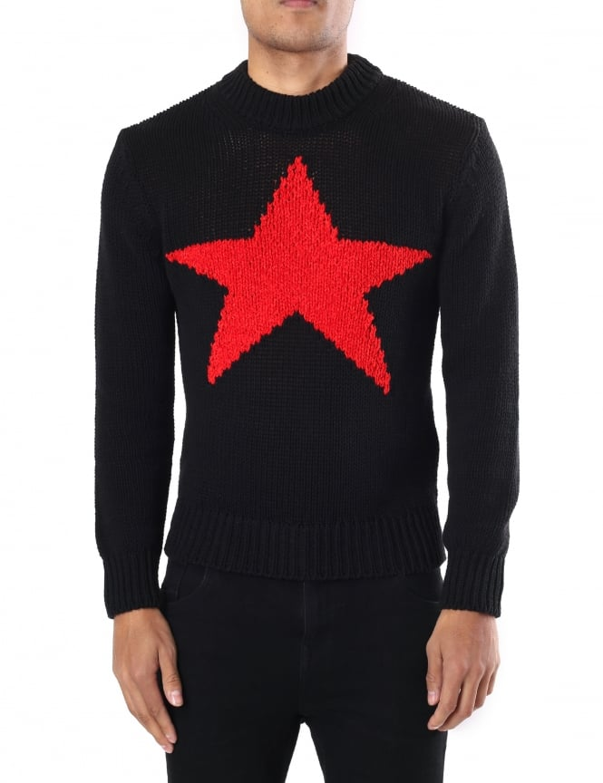 Diesel K-Chamele Men's Red Star Pullover Knit