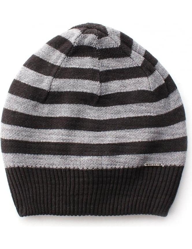 Diesel K-Grofys Men s Striped Beanie Hat f1b47bfb25a
