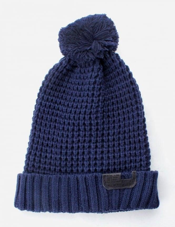 K-Turn Knitted Men s Bobble Hat Navy cf712b9af4a
