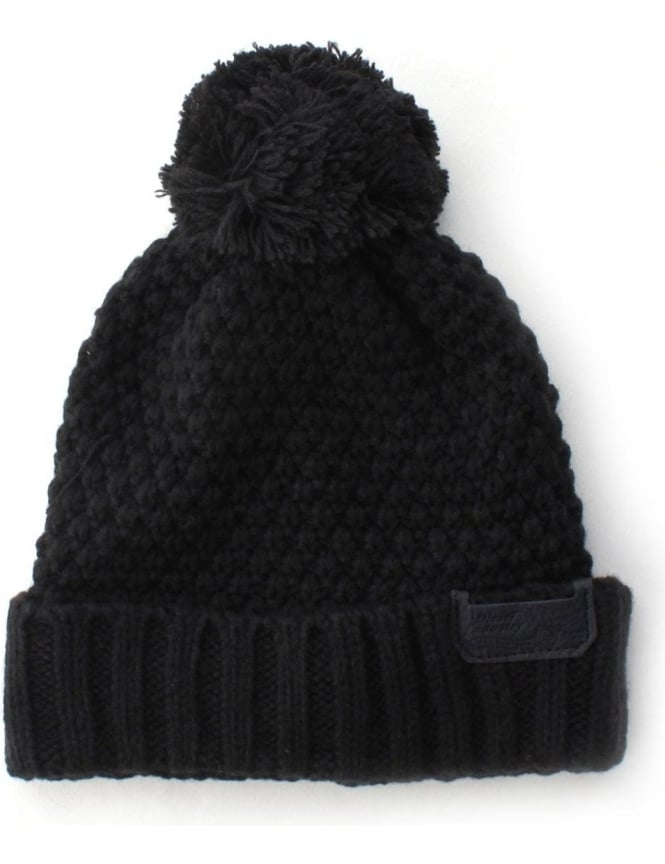 1f8d91000aa K-Virat Knitted Men's Bobble Hat Black