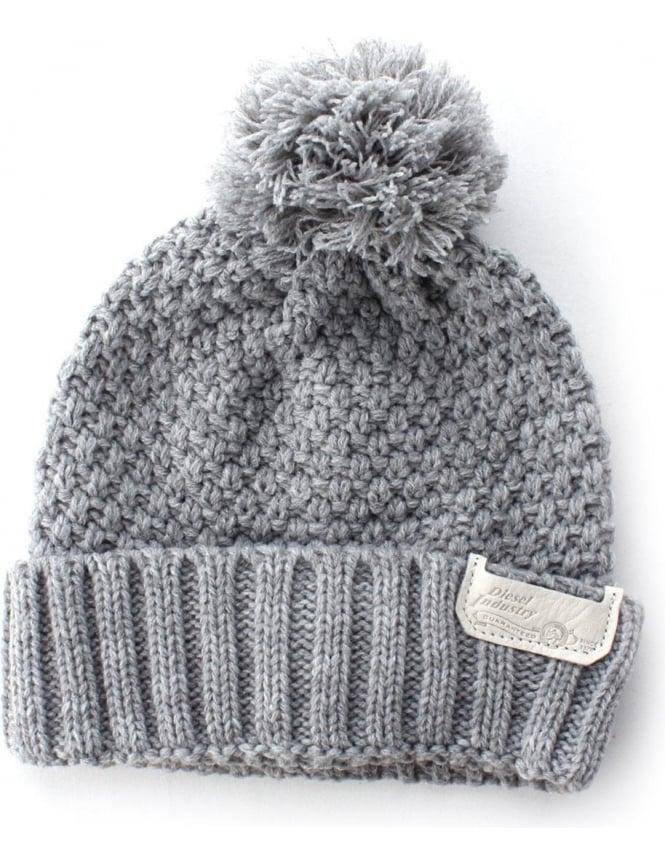 K-Virat Knitted Men s Bobble Hat Grey 9dcfc11ccf6