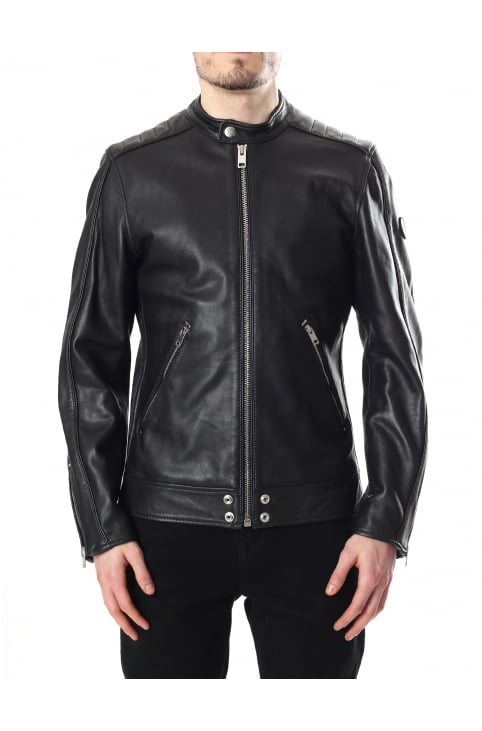L-Quad Men's Leather Biker
