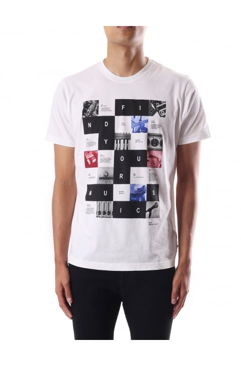 Men's Find Your Music Print Short Sleeve Crew Neck Tee