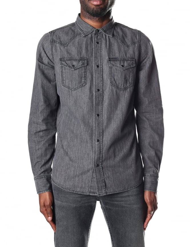 Diesel Men's New-Sonora-E Long Sleeve Shirt