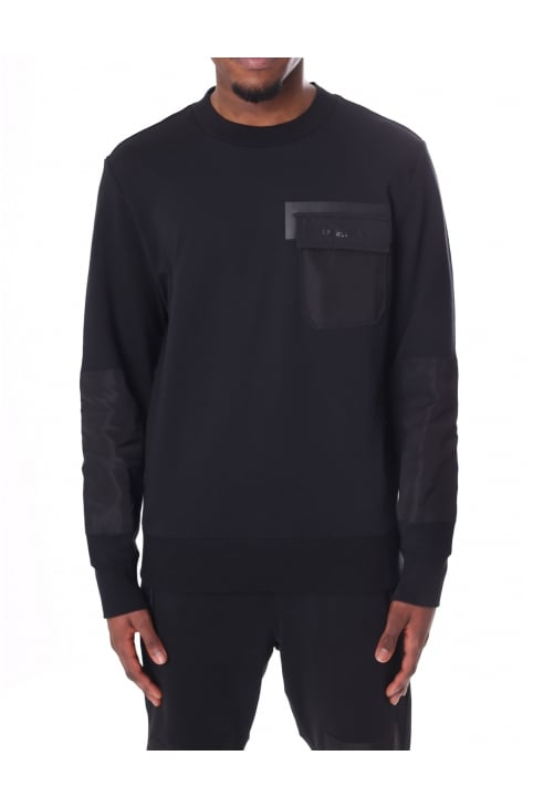 Men's S-Crome Nylon Patch Detail Sweat Top