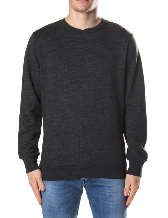 Diesel Men's S-Shins Crew Neck Sweat Top