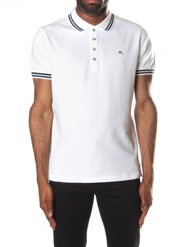 Diesel Men's T-Randy Tipped Collar Short Sleeve Polo Top