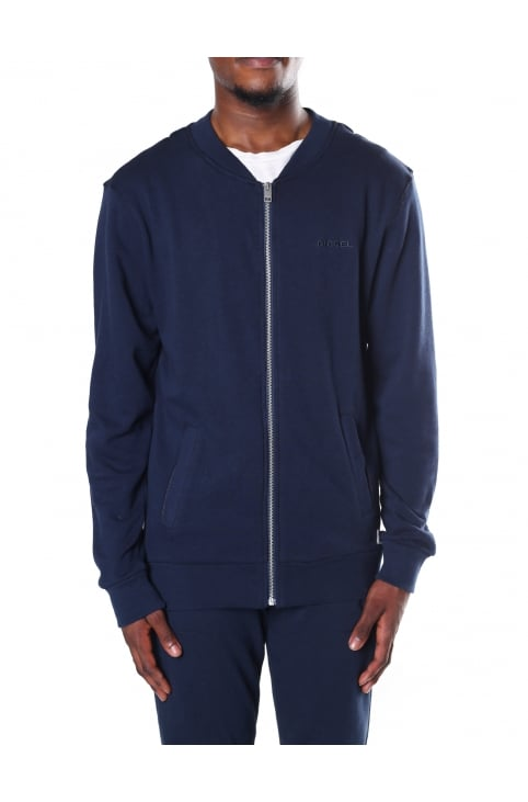 Men's Zip Through Bomber Sweat Top