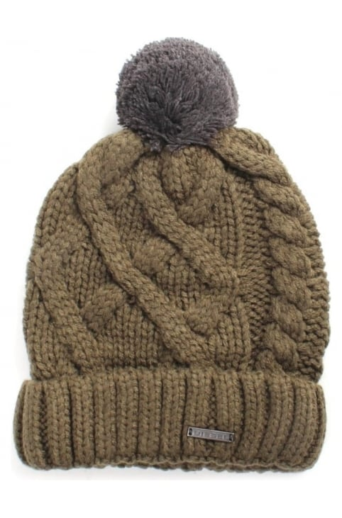 Mixed Cable Knit Men's Beanie