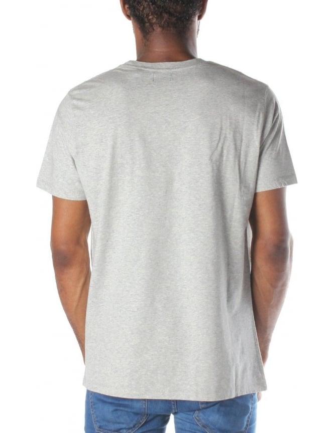 62369eaa3 Mohawk Logo Print Men's Short Sleeve T-Shirt Grey