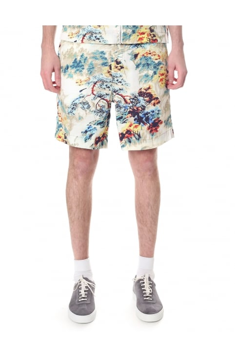 P -Noten Men's Floral Print Shorts