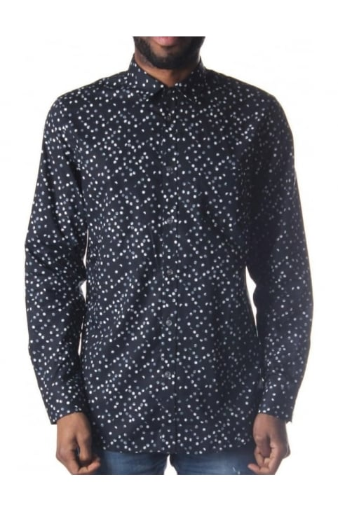 S-Aca Men's Polkadot Shirt Black