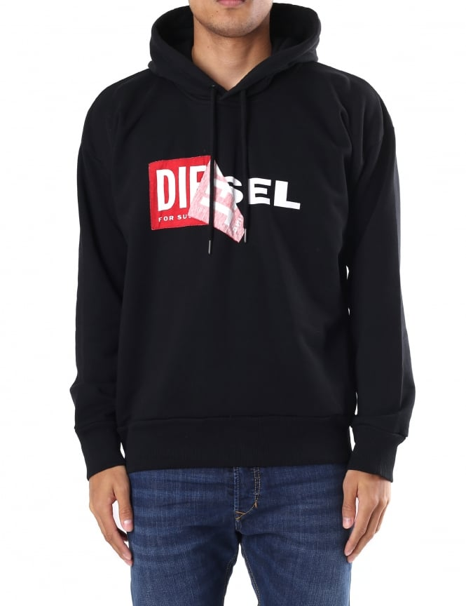 Diesel S-Alby Men's Pullover Hooded Sweat Top