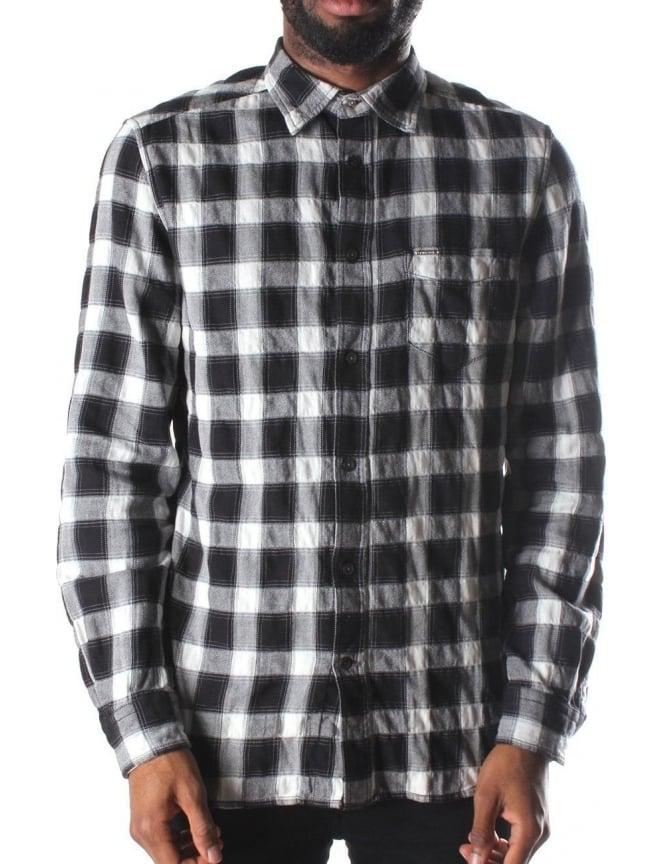 Diesel S Anobu Men 39 S Checkered Shirt Black White