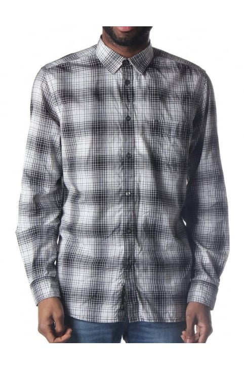 S-Eliane Men's Check Shirt Black