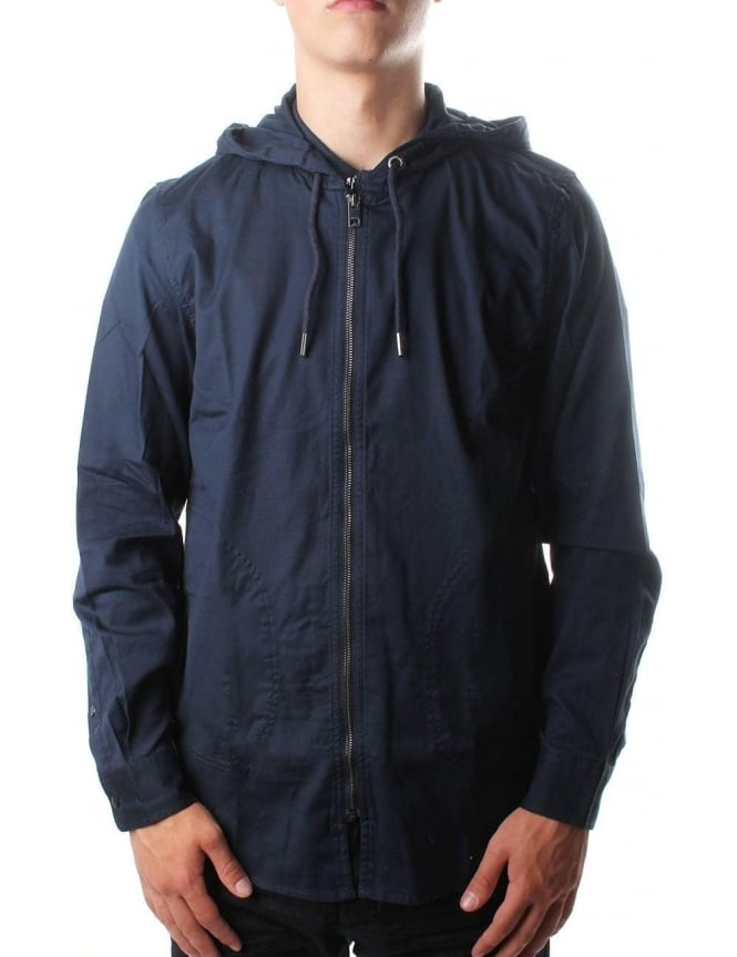 Diesel S-Hood-Zips Men's Hooded Sweat Top Navy
