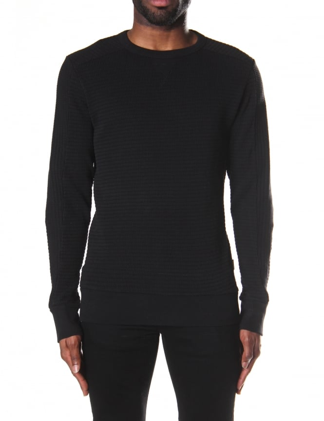 Diesel S-Jerry Men's Waffle Knit Sweater