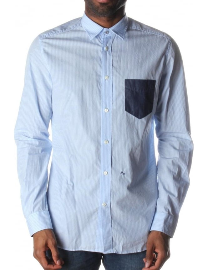 Diesel S-Neils Men's Shirt Blue