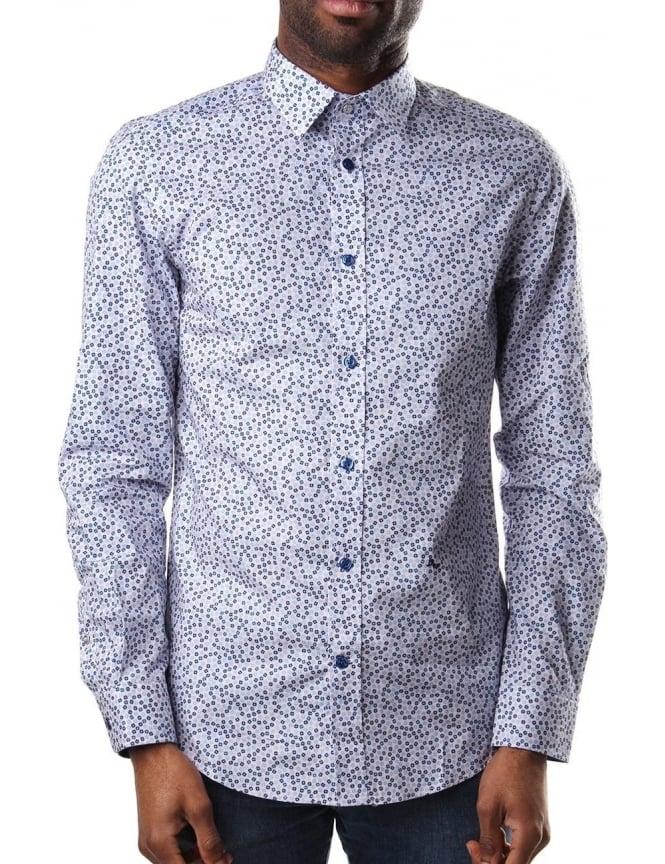 Mens blue floral shirt south park t shirts for Blue floral shirt mens