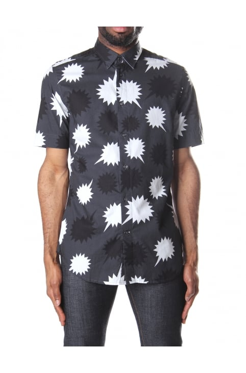 S-Willie Men's Printed Short Sleeve Shirt