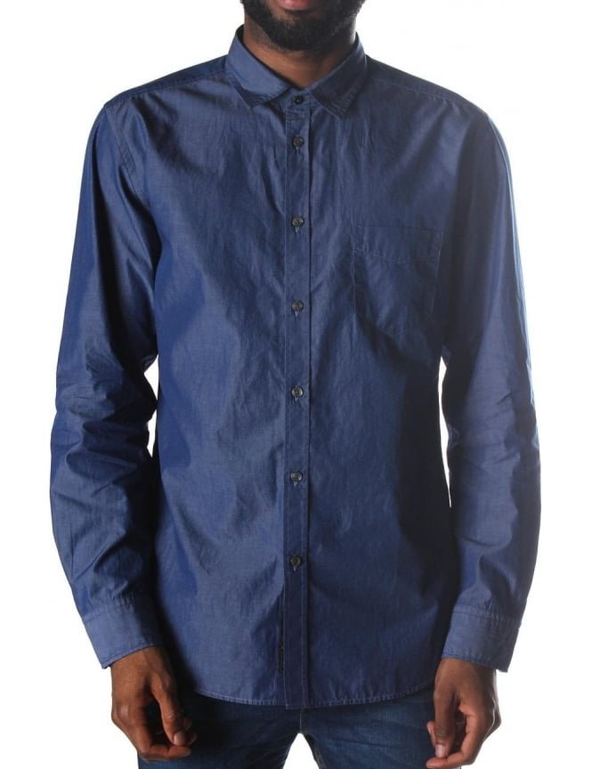 Diesel S-Xetso Chest Pocket Long Sleeve Shirt