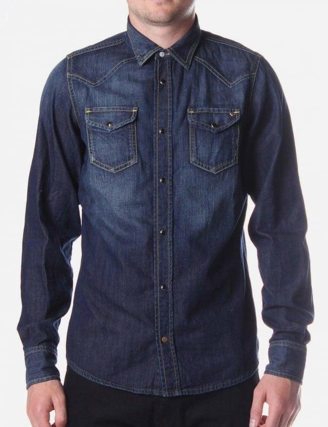 0d1c67840f Sonora Men s 2 Pocket Denim Shirt Indigo