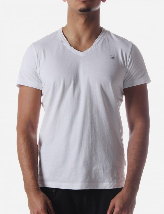 T-Brisko Basic Men's V-Neck T-Shirt White