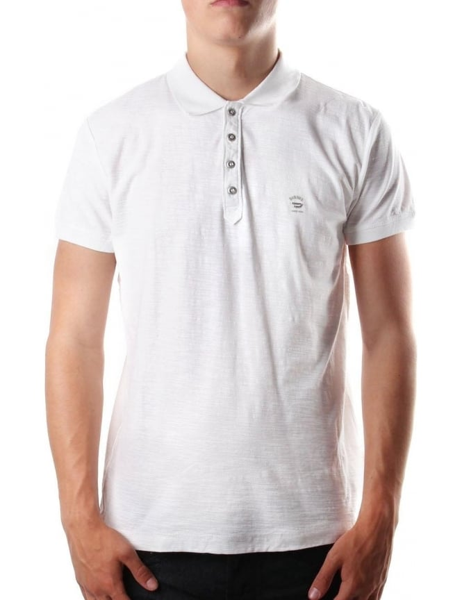 Diesel T-Chayn Men's Polo Top White