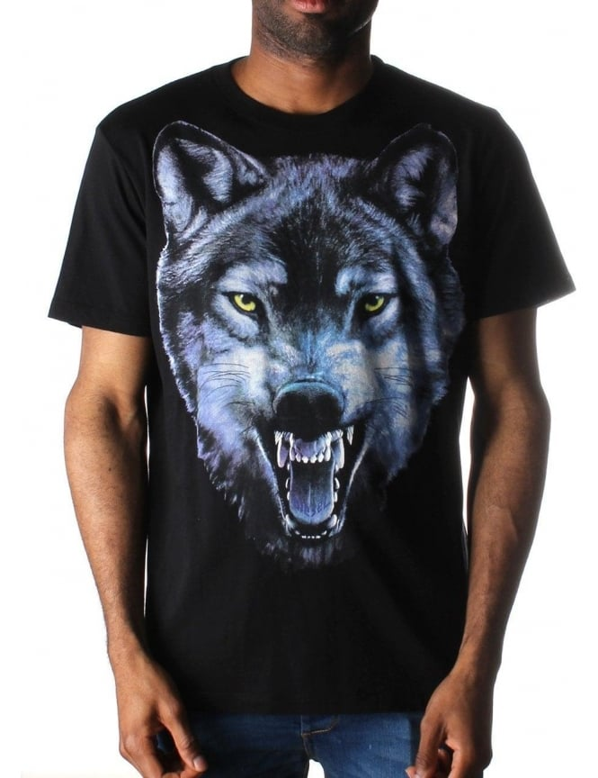 diesel t mocty men 39 s wolf head t shirt black
